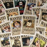 Cartel Wanted Mugiwara X 18 One Piece Combo Recompensas