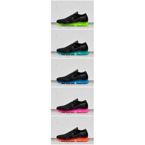 Nike Air Vapormax Black Super Color Sole Blue