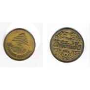Moneda 25 Piastras - Libano - 1952