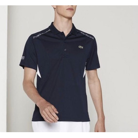 Camisa Lacoste Sport - Polo Shirt Dh2313, Marine/blanc 4/s