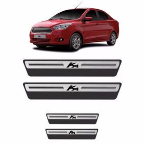 Kit Adesivo Soleira Premium Aço Escovado Ford Ka 15 8pçs/4p