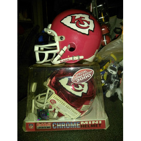 Mini Helmet Chrome Riddell Sports Nfl Kansas City Lote.