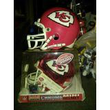 Mini Helmet Chrome Riddell Sports Nfl Kansas City Lote.