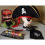 Luneta Chapeu Espada Gancho Disfarce Pirata Jack Sparrow