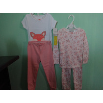 Set De 2 Pijamas Niña (4 Pzas) Mca. Carter