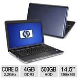 Laptop Hp Dv5 Intel Core-i3 2.27ghz. Mem. 4gb Disco 500gb
