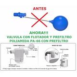 Flotante Compacto Valvula Tanque Agua Domestico 1/2