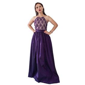 Vestido Largo De Viesta Elegante Ampón Sin Espalda 6009