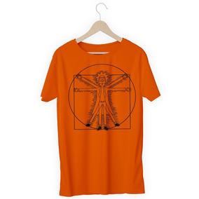 Camisa Camiseta Rick And Morty Homem De Vitruvio