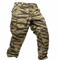 Pantalon Tactico Cargo Camuflado Tiger Strip Tela Ripstop