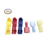 Qadira 120pcs Rápida Empalme De Cable Terminales Kit Y Compl