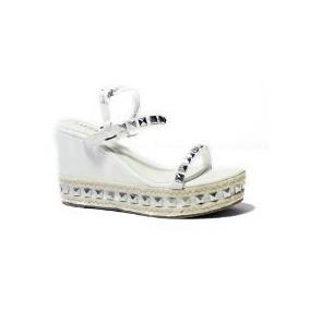 Sandalias/zapatos Sweet Labo Blanco Tachas Cuero Ecológico