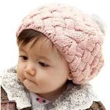 Boina Menina Gorro Infantil Touca Lã Crochê Chapéu Rosa