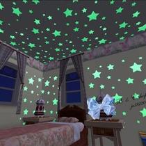 Kit Cielo Fluorescente Estrellas Blancas Y Planetas