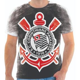 Camiseta Camisa Blusa Personalizada Estampa Corinthians 004 · Camiseta De  Poliester Personalizada De Time Corinthians 03 c9079fc340f66
