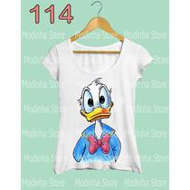 Blusa Tshirt Feminina Pato Donald Duck Desenho Disney