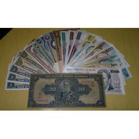 Lote 9 20 Mil Reis + 20 Cédulas Variadas