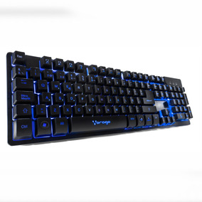 Teclado Usb Pc Multimedia Led Gamer Español Vorago Sg Kb-502