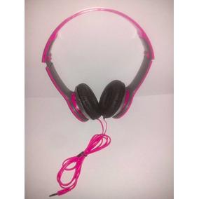 Fone De Ouvido Rosa Headphone Mp3 Pc Universal Com Fio