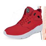 Tenis Cklass Sport Tipo Bota Color Rojo Hombre Original