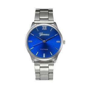 Relógio Prata De Aço Inoxidável Luxo Masculino Promoção