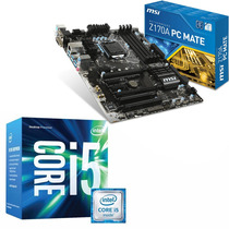 Combo Mother Msi Z170a Pc Mate Procesador Intel Core I5 6600