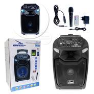 Caixa De Som Com Bluetooth 30w Portátil Rodinhas Fm Usb Mic