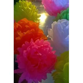 Flores De Papel De Seda / Decoración