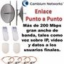 Enlace Punto A Punto Cambium Epmp5gl Laird Antena 29 Dbi