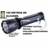 Linterna Táctica Police Tipo Yani De Mano 150 Mtsrecargable