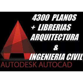 4300 Planos Autocad Librerías Diseños Arquitectura Ing Civil