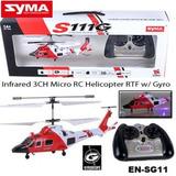 Helicoptero A Radio Control Remoto Rc Nuevo Giroscopo Syma