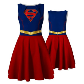 Vestido Infantil Supergirl Superman Fantasia Super Homem