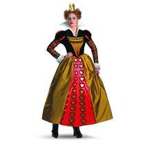 Disfraz Rojo Mujeres Traje Adulto Deluxe Queen, (alice In W