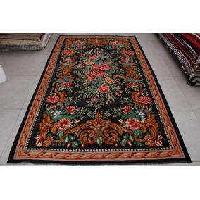 Tapete Kilim Feito À Mão Turquia Floral Aubusson 2,10x3,63m