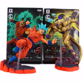 Goku Dios Vs Golden Freezer Dragon Ball Z Figuras 15cm