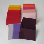 10 Und. Envelopes (convite 10x10cm) Aba Reta - Color Plus