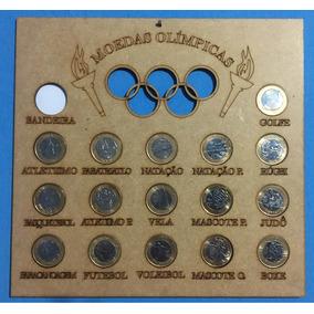 Coleção Moedas Olímpicas Com A Moldura