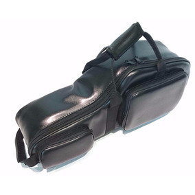 Semi Case (bag) Sax Tenor Em Couro Sintético Preto C/pelúcia