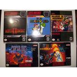 X10 Cajas Para Juegos De Snes Super Nintendo