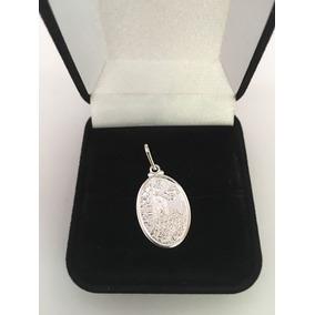 Pingente Medalha Nossa Senhora De Fatima Prata 925