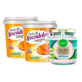 Kit 2 Pasta De Amendoim - 450g + Óleo De Coco - 200ml