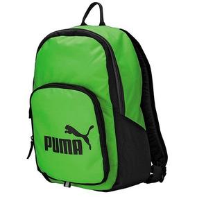 Puma Mochila W68121 Verde/negro 100% Original + Envio