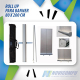 Roll Up Para Banner Publicitario No Incluye Lona 80 X 200 Cm