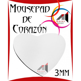 Mouse Pad De Corazon Para Sublimar Estampar Personalizar Pop