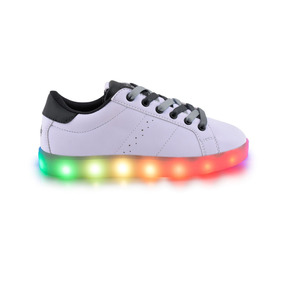 Zapatillas Footy Fxl90 Duo Grey Cordones Bicolores Y Led Pc