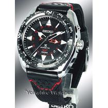 Reloj Seiko Prospex Kinetic Gmt Black Dial - Original Nuevo