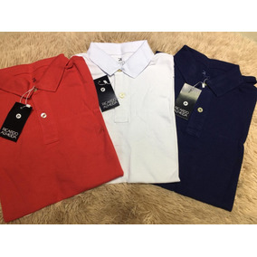 Kit 3 Camisas Polo Masculina Ricardo Almeida