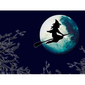 Halloween Disfraz Kit De Bruja,nariz,sombrero Y Escoba