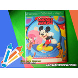 Mini Libro Para Colorear Mickey Minnie Mouse Cotillon